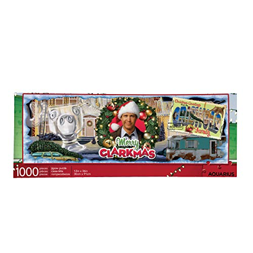 AQUARIUS National Lampoon's Christmas Vacation Puzzle (1000 Piece Jigsaw Puzzle) - Glare Free - Precision Fit - Virtually No Puzzle Dust - Officially Licensed Merchandise - 12 x 36 Inches
