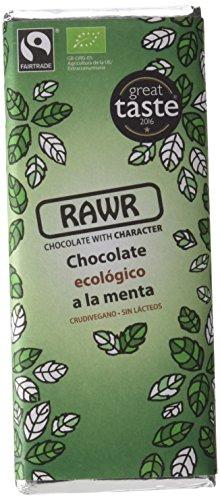 Rawr Chocolate Crudivegano de Menta - Paquete de 10 x 60 gr - Total: 600 gr