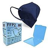 Energy balance 10 mascarillas ffp2 azul+ portamascarilla homologadas ce enviadas desde españa (blue 10)