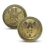 Moneda de dólar de Morgan Sí/No Ouija Gótico Predicción Monedas de decisión Ojo Que ve o Ángel de la Muerte NíquelMonedas conmemorativas deEE. UU.