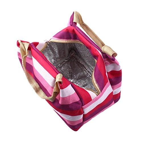Winkey Sac de déjeuner pique-nique isotherme récipient Zipper Box Tote Bento Pouch Lunch Bag