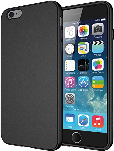 iPhone 6 Plus Caso, di TPU Diztronic completa opaca Soft Touch flessibile per Apple iPhone 6 Plus & 6S Plus (5.5') - Nero