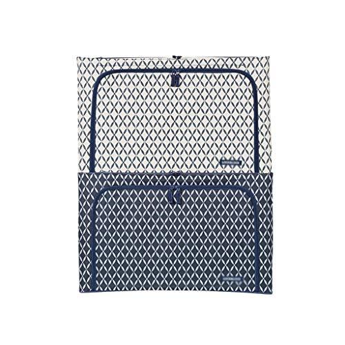 SXDHOCDZ Bolsa de almacenamiento con asa reforzada, plegable para edredón, manta, Oxford, con ventana de cremallera transparente sólida 54 x 37 x 33 cm (color: varios colores)