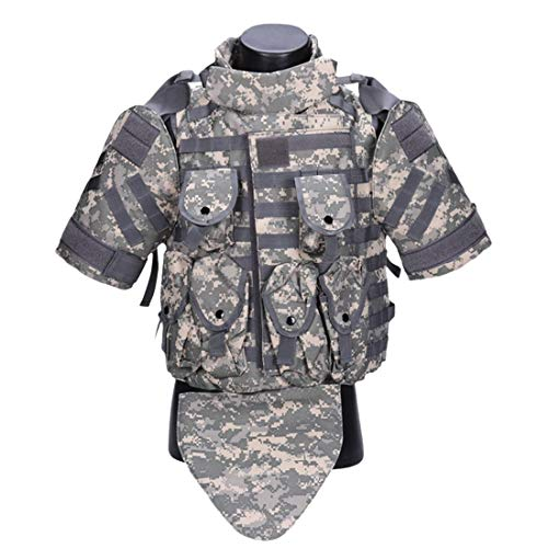 YANODA Jagd Weste Interceptor Modular OTV Körperschutz Tactics Vest Outdoor Molle Jagdweste for Airsoft Paintball Protector Jacke (Color : Gray)