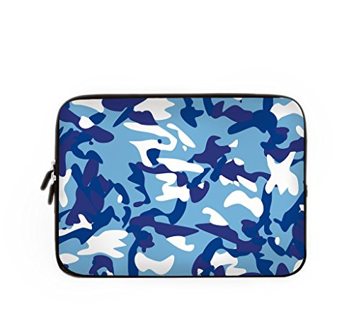 Laptop Sleeve Case Bag 15.6 Blue Camo Computer Sleeve Waterproof Computer Pouch For Acer/Asus/Dell/Fujitsu/Lenovo/HP/Samsung/Sony/Toshiba-15 inch