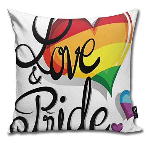 Pants Hats Love And Pride Theme With Hearts Illustration Pattern Pillow-Home Decor Pillow Cover Bedroom Decorative Cushion Case For Living Sofas Square Pillow