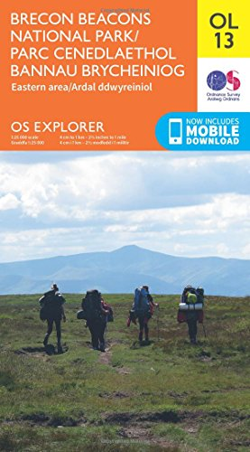 Price comparison product image OS Explorer OL13 Brecon Beacons National Park - Eastern area (OS Explorer Map)