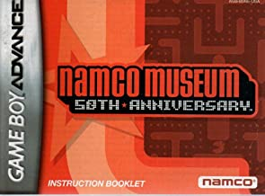 Namco Museum 50th Anniversary GBA Instruction Booklet (Game Boy Advance Manual Only) (Nintendo Game Boy Advance Manual)
