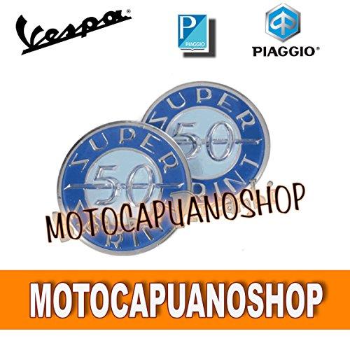 Set met 2 stickers van kunsthars Vespa 50 SS SUPER SPRINT