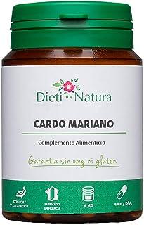 Cardo Mariano 200 cápsulas de Dieti Natura. Detox para el h