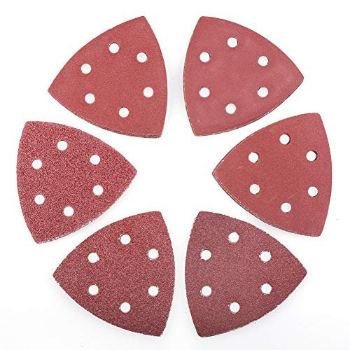 LotFancy Körnung 40/60/80/120/180/240, je 10 Stück, insgesamt 60 Stück, Schleifblätter, 12J-2453-I, 6-hole,3-3/4