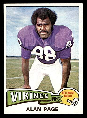 1975 Topps # 520 Alan Page Minnesota Vikings (Football Card) EX/MT Vikings Notre Dame