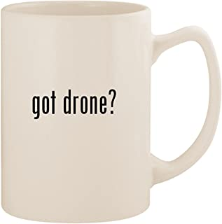 got drone? - White 14oz Ceramic Statesman Coffee Mug Cup