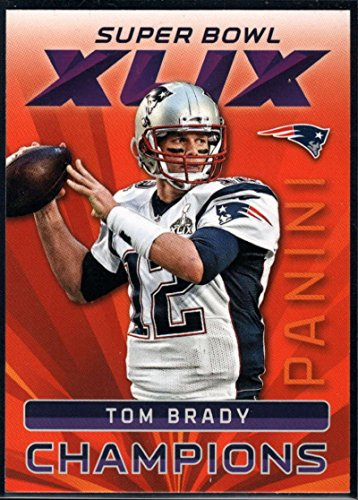 Football NFL 2015 Panini Super Bowl XLIX #1 Tom Brady