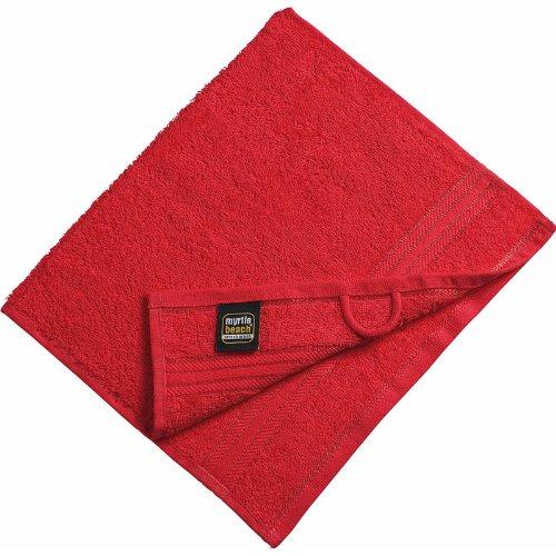 Myrtle Beach - serviette de toilette invité - rouge - 30 x 50 cm - MB420
