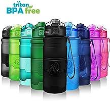 ZORRI Sports Water Bottle, 400/500/700ml/1L, BPA Free Leak Proof Tritan Lightweight Bottles for...