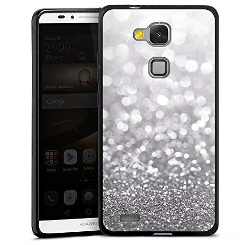 DeinDesign Silikon Hülle kompatibel mit Huawei Ascend Mate 7 Case Schutzhülle Glitzer Look Weihnachten Geschenk für Frauen