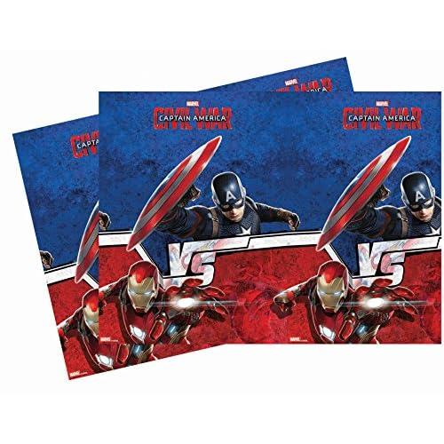 Plastica Capitan America Guerra civile Tovaglia, 1,8x 1,2m,