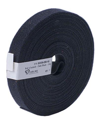 Patchsee ECOS-DB-10 Eco-Scratch, Klettband, 10m lang,19mm breit, blau, schwarz