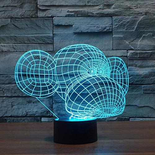Creatieve 3D LED nachtlampje dier aap wekker 7 kleuren bureaulamp USB werklamp geschenk voor kinderen slaapverlichting