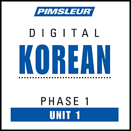 Korean Phase 1, Unit 01 audiobook cover art