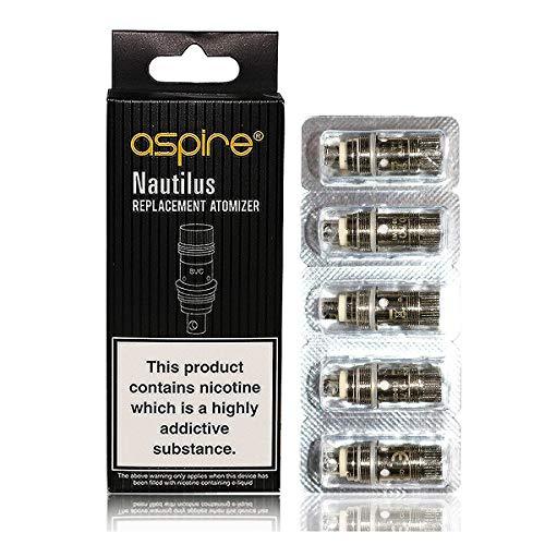 Preisvergleich Produktbild Original Aspire Nautilus BVC verdampferköpfe / coils 5 Stück Ohne Nikotin 1.8 Ohm