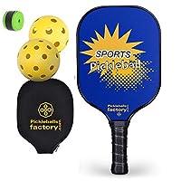 Pickleball Paddles, Pickleball Set, Pickleball Paddle, Pickleball Balls, Pickleball, Pickle Ball Game Set, YELLOW FUN Pickleballs, Pickle Ball Racquet, paddle ball set