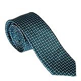 G.O.L. - Jungen Schlips Krawatte zum binden gemustert, türkis - 9982300petrol, Größe 2