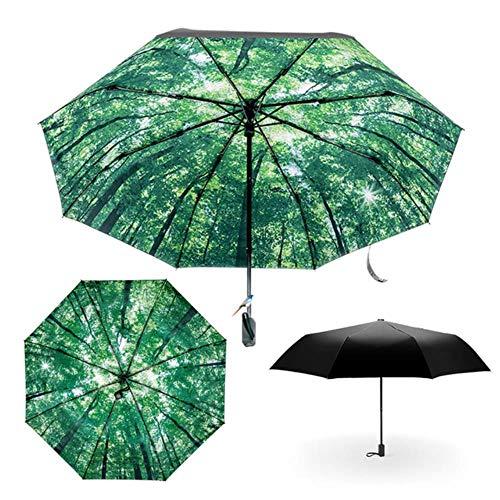 WANG Movie Big Fish Begonia Printing Women Lady Rain and Sun Umbrella 3 Folding 8 Ribs Sunshade UV-Resistant Umbrellas,Pattern1