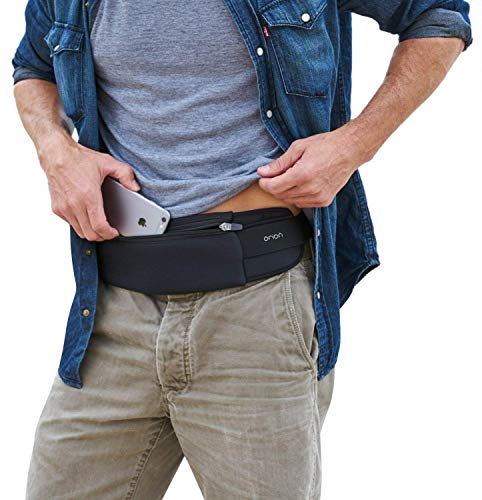 """The Belt of Orion Survival Gear Travel Running Belt Waist Fanny Pack Hands Free Way to Carry Sanitizer, Face Mask, Phone, Passport, Keys, ID, Money & Everyday Essentials (Travel 9""""x4"""")"""