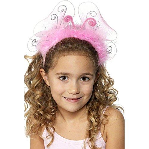 Amakando Serre-tête Enfant pour Cheveux Elfe Bandeau Papillon Petite Fille Rose Accessoire Cheveux Fée Diadème Fête Carnaval
