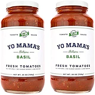 Yo Mama's Keto Friendly Tomato Basil Pasta Sauce – Pack of (2)