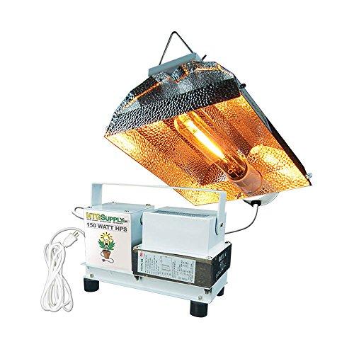 HTG Supply 150-Watt High Pressure Sodium (HPS) Complete Grow Light, Bulb Included