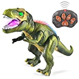 JOYIN LED Allume Dinosaures Télécommandés Marchent et Rugissent Réalistes Jouets de Dinosaure...