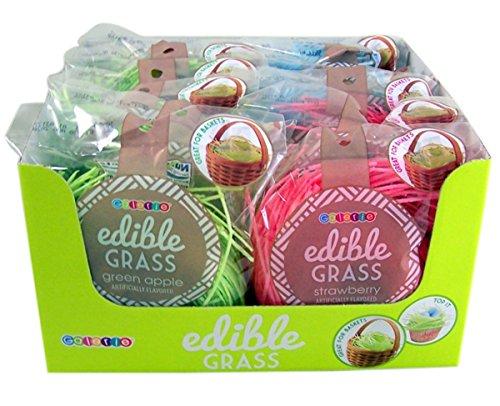 Assorted Flavor Edible Easter Basket Grass Filler, 1 oz, Pack of 12