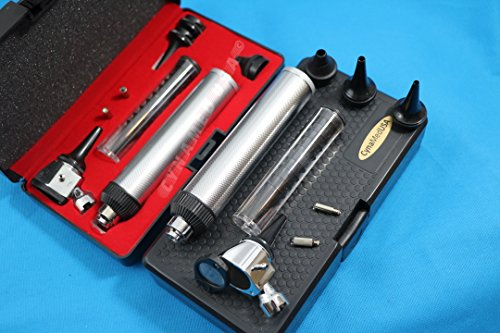 New Otoscope Set ENT Medical Diagnostic Surgical Instruments Plus 2 Free Replacement Bulb Cynamed