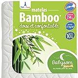 Babysom - Matelas Bébé Bamboo - 70x140 cm | Viscose au toucher Ultra Doux | Aéré...