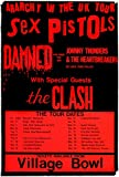The Sex Pistols - The Damned - The Clash - 1976 - Concert Poster