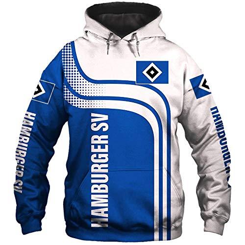 SYPT Mens Hoodies Pullover Hamburger SV Beiläufiges Sweatshirt Langarm-Baseballuniformjacke XXXXL