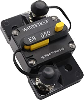 50 Amp Manual Reset Circuit Breaker 12V/24V Boat Accessory Trolling Motor