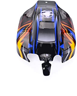 ROWEQPP 8459 1/8 PVC Car Shell for Off-Road Vehicles Buggy Body Shell Cover for ZD Racing 1:8 RC Car HOBAO Hyper VS Black