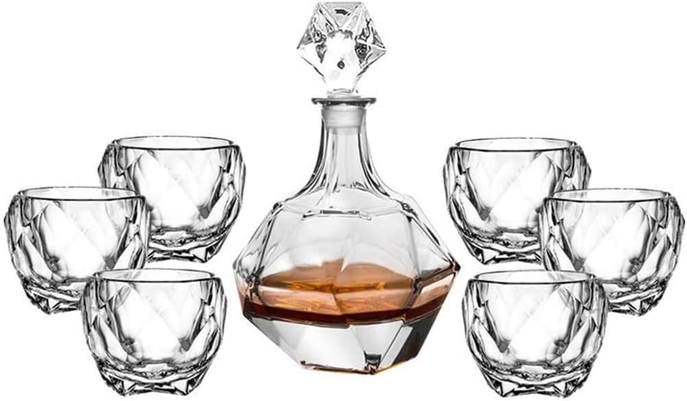 New product!! Wine Save money Decanter 7-Piece Whiskey Crystal Set Deca