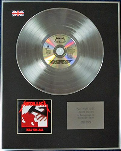Century Music Awards METALLICA – Limited Edition CD Platin Disc – KILL 'EM ALL