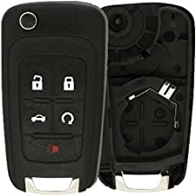 Pack of 2 Blue KeylessOption Keyless Entry Remote Control Car Key Fob Replacement for 25695954 25695955