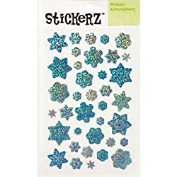 Blue Glitter Snowflake Stickers