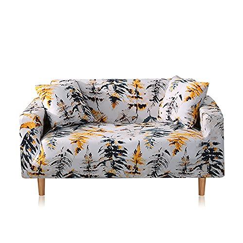 WXQY Funda de sofá elástica, sofá de Esquina Universal para Sala de Estar, sillón para Mascotas, sofá de Esquina en Forma de L, Chaise Longue A2 de 2 plazas