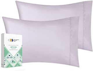 Luxuriously Soft Hotel Quality 600 Thread Count, 100% Cotton Set of 2 Cases, Crisp & Cool King Size Pillow Covers Set of ...