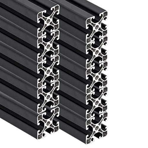 PremiumX 10 Stück 2000mm Aluminium Profil Aluprofil 40x40 mm Nut 8 Strebenprofil Anthrazit 4040 2m Alu Konstruktionsprofil