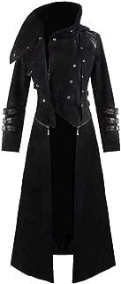 Zolimx Gothic Steampunk Herren mit Kapuze Retro-Trenchcoat Party Kostüm Frack Gericht Langarm Jacke Mantel Gotischen Bankett