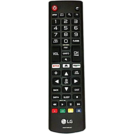 Universal Remote Control AKB75095307 AKB75375604 Compatible with All LG LED LCD HDTV UHD 3D 4K Smart TV with Black Remote Holder